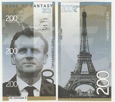 200 Euro 2018 UNC Polymer Banknote - Emmanuel Macron France - Eiffel Tower