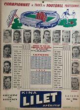 CHAMPIONNAT DE FRANCE DE FOOTBALL   GIRONDINS DE BORDEAUX CALENDRIER 1955