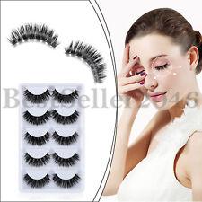 5 Pairs/Box 3D Real Mink False Eyelashes Soft Cross Thick Long Fake Eye Lashes