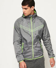 New Mens Superdry Core Cagoule Grey Marl