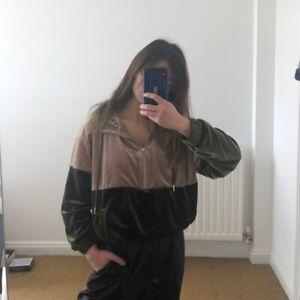 Zara Velvet Quarter Zip Hoodie XS, S, M