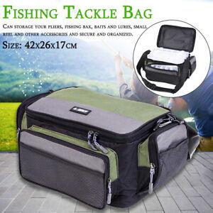 Fishing Tackle Bag Pack Waist Shoulder Waterproof Box Reel Lure Gear Storage