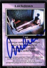 BABYLON 5 CCG Card Andreas Katsulas (1946-2006) Lockdown AUTOGRAPHED