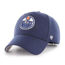 NHL Edmonton Oilers Cap Basecap 47Brand adjustable Baseballcap MVP Wool blau
