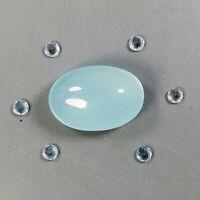 Gemstone for Jewel Natural 9.65 Ct.Cabochon Light Blue Aquamarine Africa/ S3755