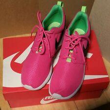 Nike Roshe 1 Pink & Neon Green Casual Shoe Spring Summer Women's Apparel Sneaker