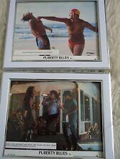 2 Original framed lobby cards Puberty blues Porkys style Movie Press photos