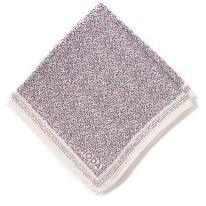 NWT RODA Pink and Teal Blue Micro Dot Print Wool-Silk Pocket Square