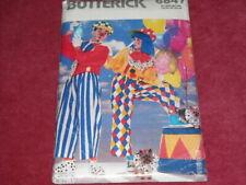 🌻 BUTTERICK #6847-ADULT CLOWN-PANTS-SHIRT-HAT-BOW TIE COSTUME PATTERN  XS-XL FF