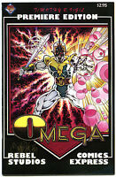 OMEGA PREMIERE #1, VF+, Tim Vigil, Signed, 1987, more TV in store