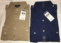 NWT POLO RALPH LAUREN Mens Military Button Down Shirt Long Sleeve Classic Fit