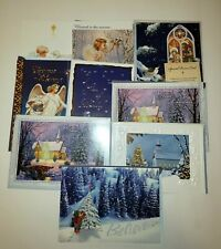 Lot of 9 Christmas Cards - Religious with 9 Matching Envelopes
