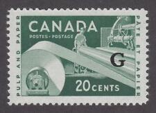 "Canada 1955-56 #O45 Overprinted ""G"" in black - Paper Industry - Vf Mnh"
