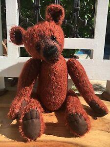 Sampey, Ooak mohair artist bear bearflair Alaine Ferreira, Bearflair