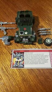 G1 Transformers Vintage 1984 Hound With Tech Spec Excellent Condition!!