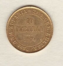 More details for slabbed 1904l finland gold 10 markkaa in near mint condition.