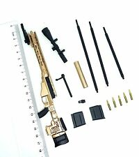P0507 1/6 Scale HOT X-TOYS MSR Gold Sniper Rifle Set TOYS