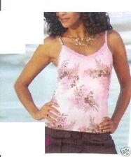 Ärmellose Taillenlang Damenblusen,-Tops & -Shirts mit Baumwollmischung für Freizeit
