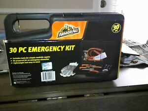 NEW Armor All Roadside Emergency Kit Safety - Jumper Cables, Sockets, 30 piece