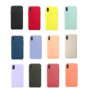 Silicon Case for iPhone X,XS,XR,11 Pro ShockProof SoftCover TPU Silicone Rubber