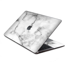 """Skin Decal Wrap for MacBook Pro 13"""" Retina Touch  Grey and White Marble panel"""