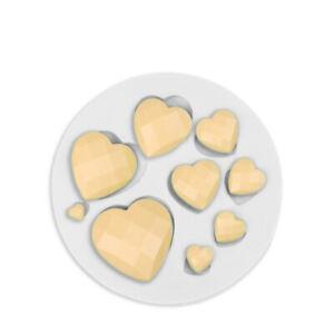Heart Diamond Silicone Fondant Mould Cake Decorating Sugar Topper Chocolate Mold