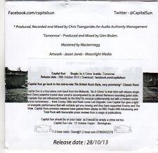 (EM508) Capital Sun, Its A Crime / Tomorrow - 2013 DJ CD