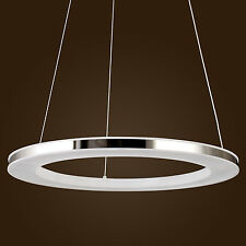 UK Modern LED Acrylic Pendant light Round Ring Chic Stainless Steel Plating