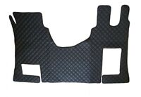 Black Floor Mats Eco Leather Cover for RHD Mercedes Actros MP4 Automatic gearbox