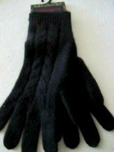 "Christian Siriano Womens 100% Cashmere Gloves Luxurious Premium 10"" Black NWT"