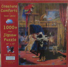 SunsOut CREATURE COMFORTS Cats Dogs Bird Fish Pets Animals 1000+ Piece Puzzle
