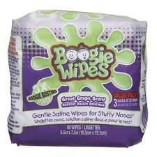 Boogie Wipes Natural Saline Kids and Baby Nose Wipes for Cold and Flu 90 Count