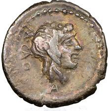 Marcus Porcius Cato 89 BC Roman Republic AR quinarius NGC Choice VF 4/5 3/5