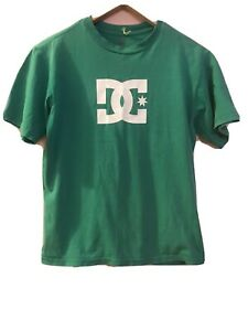 XXL 16 47cm Front Chest DC Droors Clothing Star Grass Green Skater Tshirt Shirt