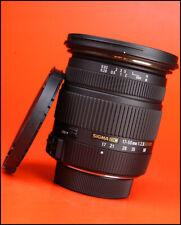 Sigma 17-50mm F2.8 EX DC OS HSM Lente de Zoom-Nikon + Lente Tapas delanteras y traseras