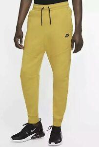 RARE Nike Tech Fleece Jogger Pants Sweatpants 805162 743 Mens Xl Mustard Yellow