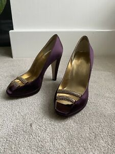 lk bennett court shoes Heels With Diamanté Chain Peep Toe