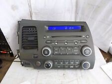 06-11 Honda Civic  Radio Single Disc Cd Mp3 & Code 39100-SVA-A01 4BC0 A17220