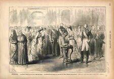 Bruxelles Noces d'Argent du Roi Léopold & Reine des Belges Cadeau GRAVURE 1878