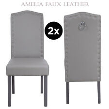 Chrome Knocker, Dining Chairs Faux Leather, Wipeable, Spill Resistant, Resilient
