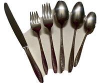 Wm. Rogers Reinforced Plate AA Starlight 6 pieces-knife fork tablespoon teaspoon