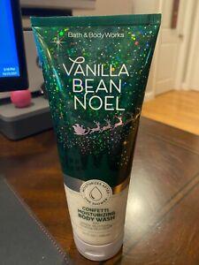 Bath and Body Works VANILLA BEAN NOEL Confetti Moisturizing Body Wash 10 oz NEW