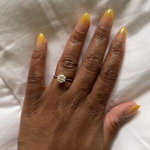 2 carat solitaire moissanite engagement ring