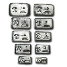 1 oz-10 oz Silver Bars - Prospector's Gold & Gems (55 oz total) - SKU #79993