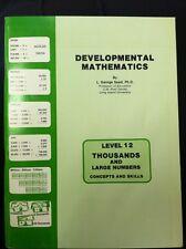 Developmental Mathematics George Saad Level 12 Thousands Large Numbers Book