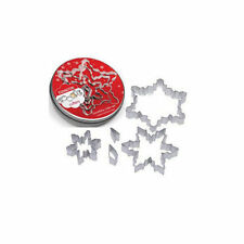 Eddingtons Christmas Snowflake 5 Pce Cookie Cutter Set Complete with tin.