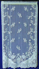 "Heirloom Quality Old World White 60"" x 84"" Cooton Blend Lace Panel"