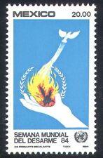 Mexico 1984 Disarmament/UN/Dove/Flame/Fire/Hand/Birds 1v (n39939)