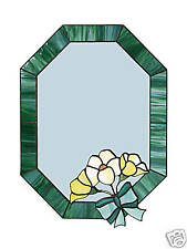 Hand Made Art Nouveau Stained Glass Wall Mirror