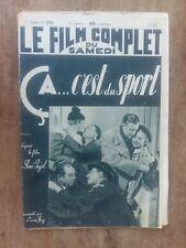 Magazine FILM COMPLET CA...C'EST DU SPORT pierre LARQUEY henri GARAT 1938 *